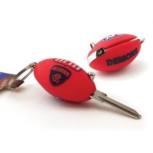 Creative Keys AFL Footy Flip Key Blank with Keyring LW4 – Melbourne Demons