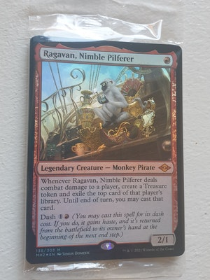 ragavan, nimble pilferer prerelease promo sealed with tokens