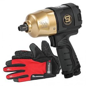 "Impact Wrench 1/2"" Air Tool 627 Ft/lbs (Gold Anniversary) SI1490BG"