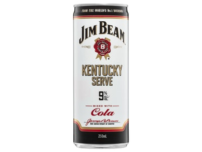 Jim Beam & Cola Kentucky Serve Can 250mL