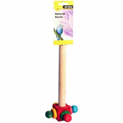 Avi One Perch Wooden With Rotating End