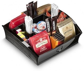 Boutique Medical CEP Tea Coffee Storage Home Office Organizer Organiser Distributor Tray - Black