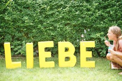 DIY Deko-Buchstaben für die Hochzeit oder den JGA