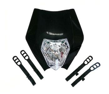 E Marked Motocross Headlight - Black