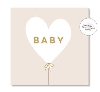 Baby Hearts Balloon (Beige)