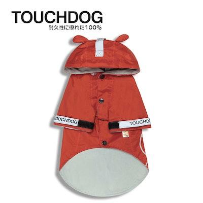TOUCHDOG Monster Fashion Waterproof Dog Raincoat Red