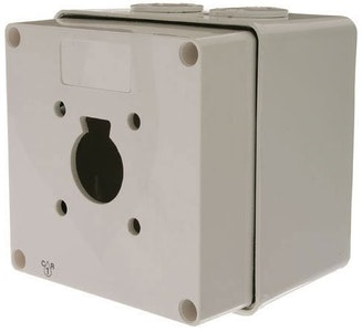 Lock-It-Well EZY key switch mount box enclosure in grey PVC finish