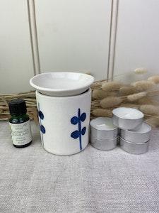 Gift Set Porcelain Blue and White Oil Burner