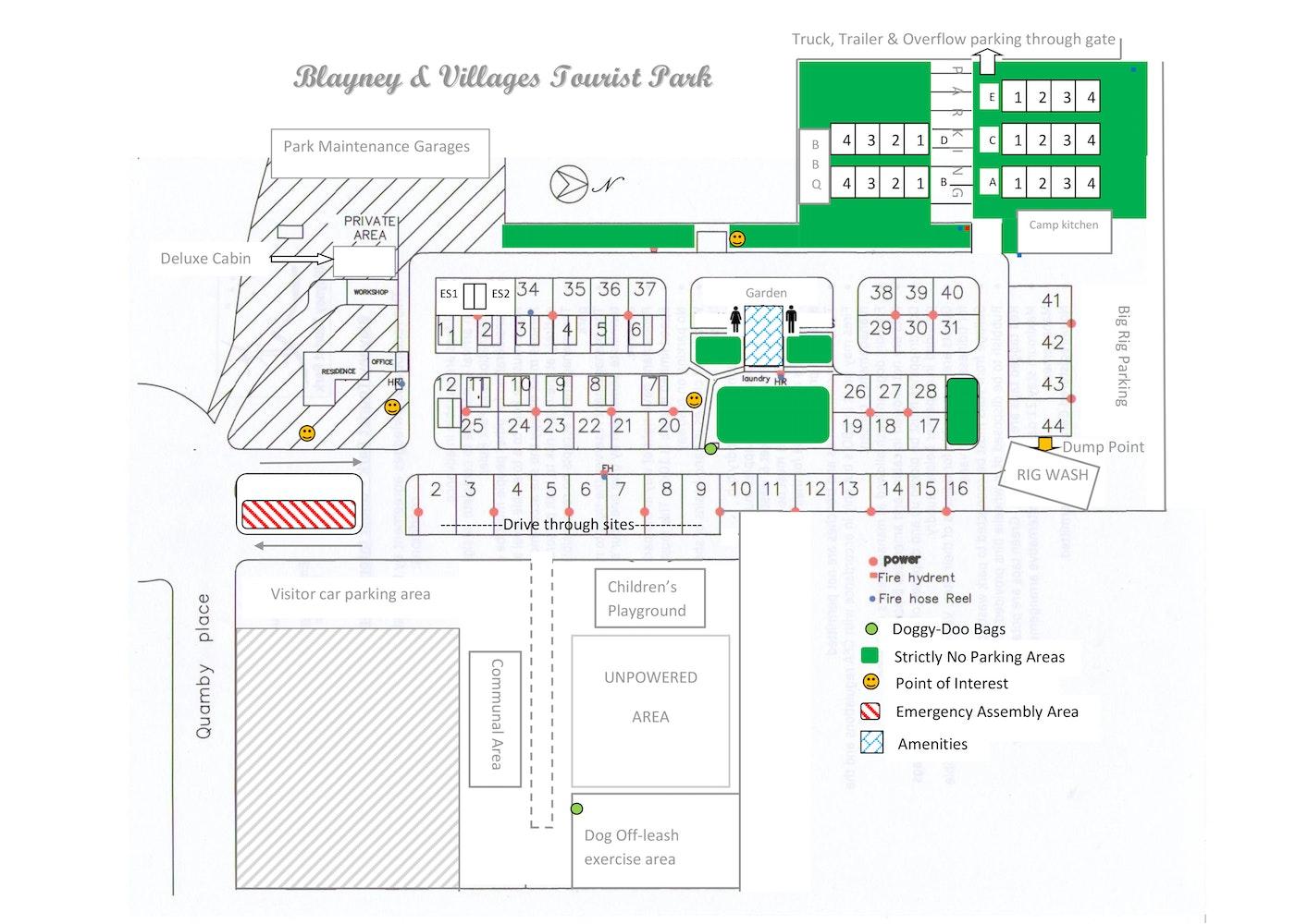 Blayney park map