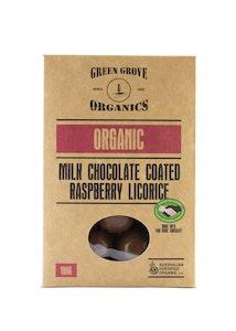 Milk Chocolate Coated Raspberry Licorice