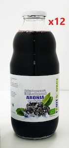 100% Pure Cold Pressed Organic Aronia Juice 1 Litre x 12 BOTTLES BULK BUY