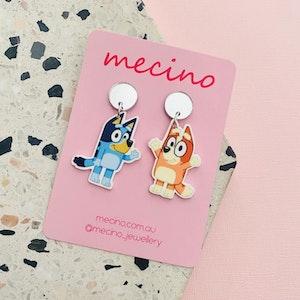 Bluey and Bingo! Acrylic Earrings
