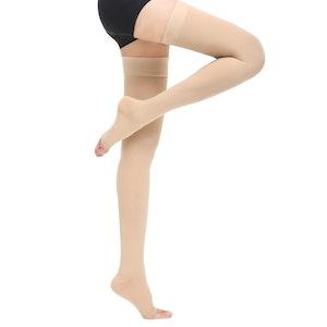 Medical compression socks-thigh high open toe CLASS 1 (15-20)mmhg