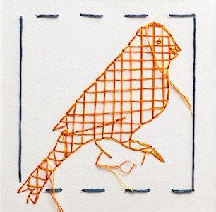 Tracy Stirzaker Inner Canary, Orange - Original Artwork