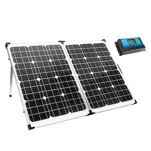 ATEM POWER 12V 160W Folding Solar Panel Kit Caravan Boat Camping Power Mono Charging Home