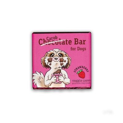 Veggie Paws Chocolate (Carob) Bar for Dogs - Strawberry