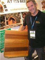 Jonathon Bingham OZShacks at  CRVA Trade Show.
