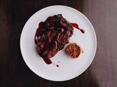 Southern Rangers Scotch Fillet 300g with Butter Confit Garlic, Red Wine Jus