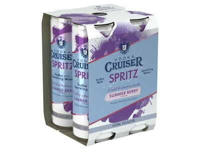 Vodka Cruiser Spritz Summer Berry Can 275mL 4 Pack