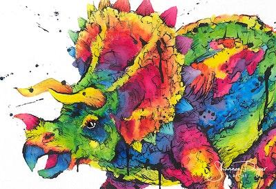 Tricolour-Pops, Art Print