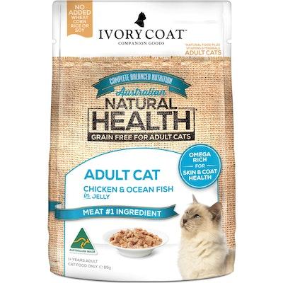 IVORY COAT Grain Free Adult Chicken & Ocean Fish Wet Cat Food 85G