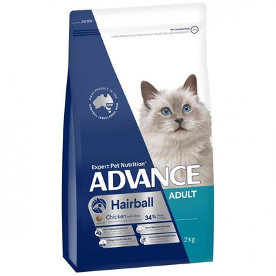Advance Hairball Adult Chicken Dry Cat Food 2kg