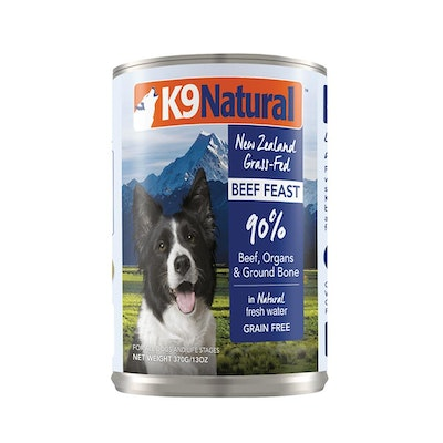 K9 Natural Beef Feast Canned Dog Food 370G