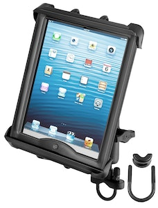 RAM-B-149Z-TAB8U :: RAM Handlebar Rail Mount with Tab-Tite Universal Cradle for Large Tablets With Heavy Duty Cases