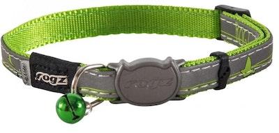 Rogz Collar Safeloc Nightcat Lime Swallow