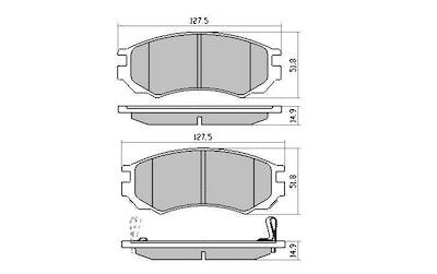 EBC REDSTUFF FRONT BRAKE PADS for Nissan Pulsar N15 2.0L SSS Hatch 10/1995-2000