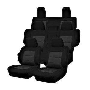 Premium Car Seat Covers For Mitsubishi Pajero Ns-Nt-Nw-Nx Series 2006-2020 4X4 Suv/Wagon 7-Seater   Black