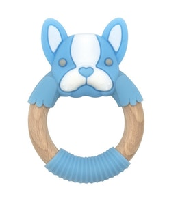BibiLand BibiBaby Teething Ring - Freddie Frenchy - Blue and White