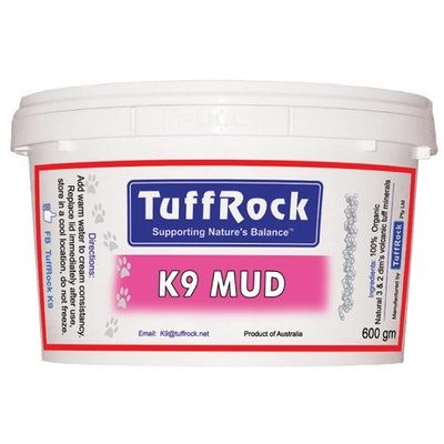 Tuffrock K9 Mud 600g Volcanic Mineral Exfoliater for Dogs