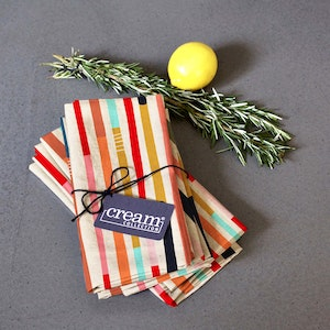 Table Napkin Wandering Stripes Set of Eight