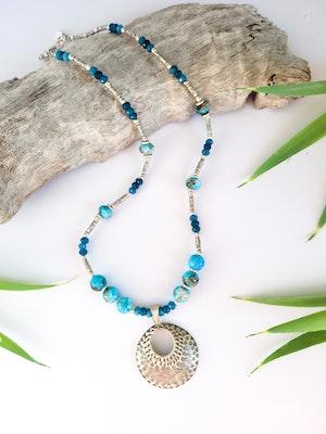 Uniqu-Lea Yours Beautiful Blue Apatite Necklace