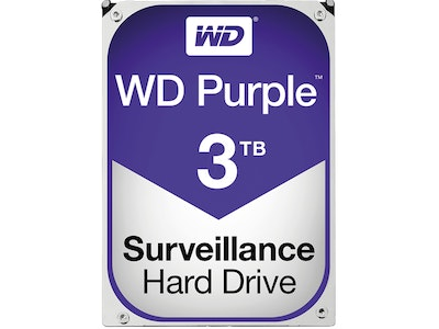 Western Digital (WD) 3TB Purple series hard drive (HDD)