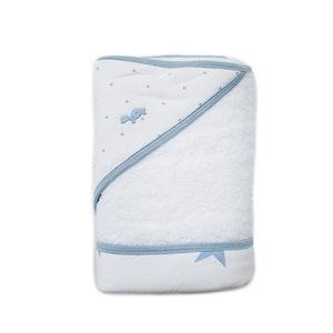 NEW! - Hooded Towel - Spots & Stars - PALE BLUE
