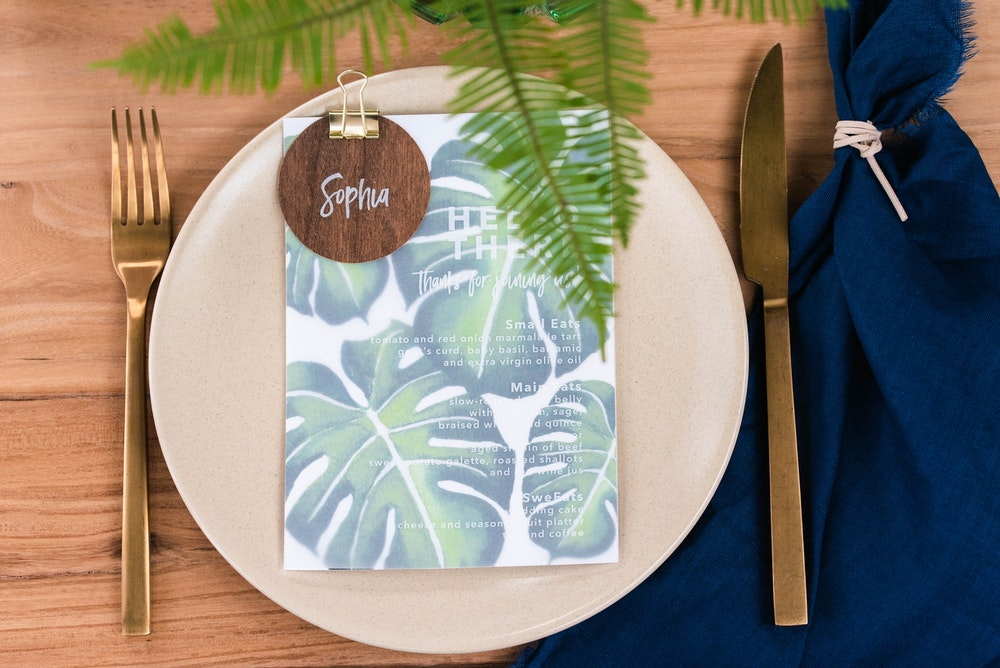 Modern Party Tropical Party Magnolia Press Menus