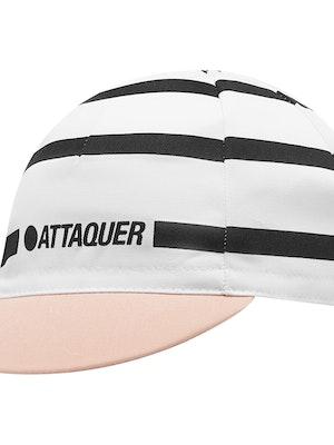 Attaquer Stripe Logo Cap White