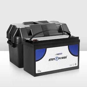 12V 110AH AGM Battery AMP Hour SLA Deep Cycle Dual Fridge with Battery Box