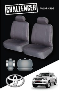 Canvas Seat Covers For Toyota Hilux 03/2005-2020 Black Dual-Cab
