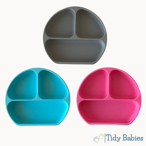 Tidy Babies  Baby Silicone Suction Grip Mealtime Divider Plate
