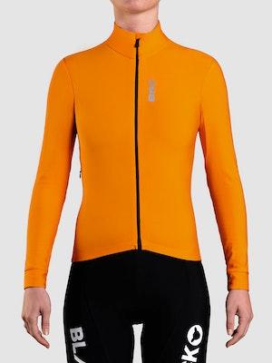 Black Sheep Cycling Women's Elements LS Thermal Jersey - Orange