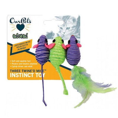 Our Pets Go Cat Go Three Twined Mice Instinct Cat Toy 21cm