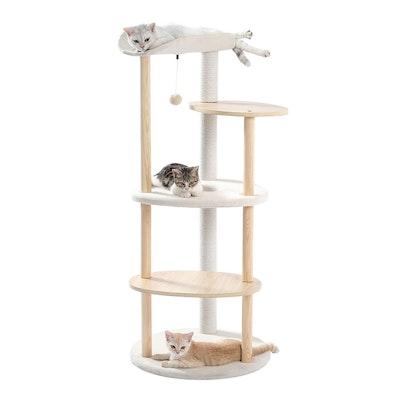 PaWz Minimal Multi-level 124.5cm Cat Scratch Tower