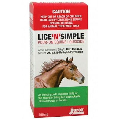 Jurox Lice N Simple Biting Lice Control 100ml
