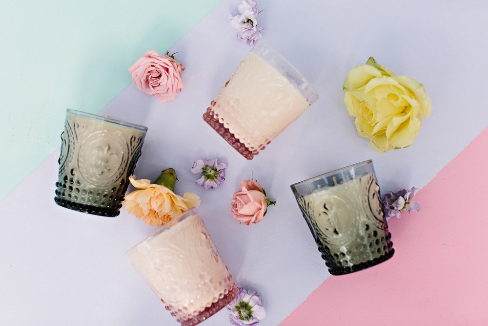 Aroma Luxe Glass Wedding Candles