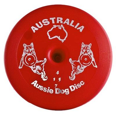 Aussie Dog Hard Red Floppy Disc Tough Frisbee 28 cm