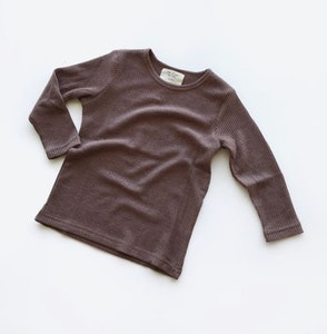 """Wildchase Waffle T Shirt - Long Sleeves by""""Oh Nine the Label"""""""