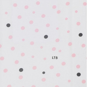 Baby Wrap - Stretch Cotton Jersey: PALE PINK & GREY SPOTS